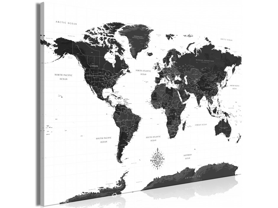 Tableau  Black and White Map (1 Part) Wide