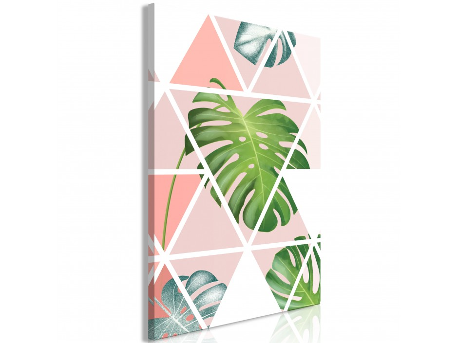 Tableau  Geometric Monstera (1 Part) Vertical