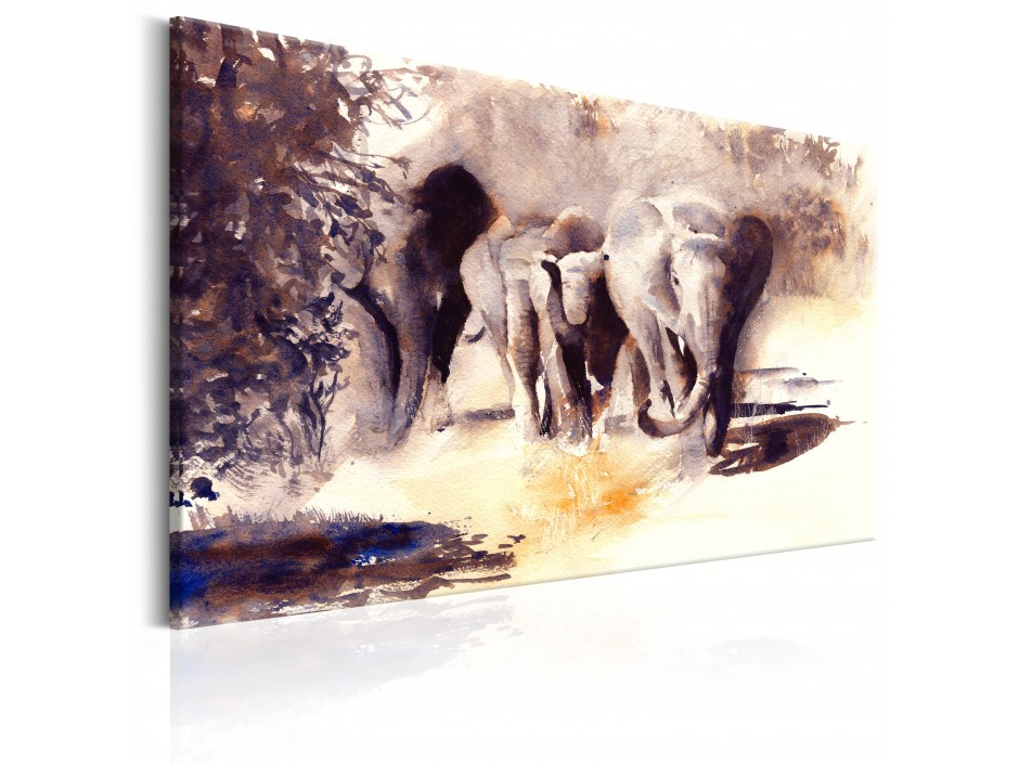 Tableau  Watercolour Elephants