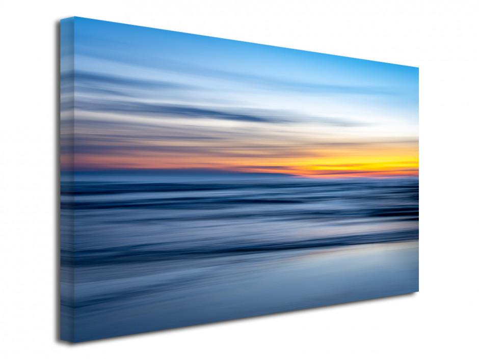 Tableau toile décorative coucher de soleil sur la plage