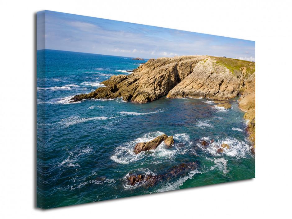 Tableau toile la côte sauvage Quiberon