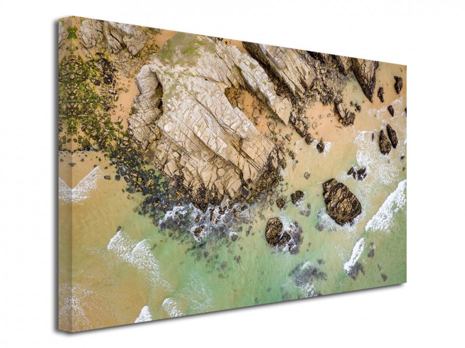 Tableau toile les falaises de Quiberon vu du ciel