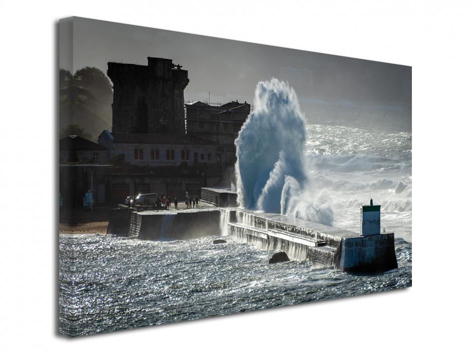 Tableau photo sur toile tempête sur Socoa Pays Basque