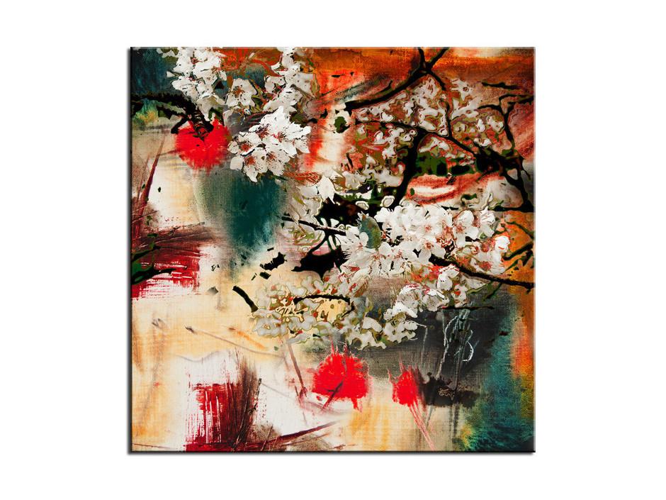 Tableau aluminium déco peinture Abstraite Flower