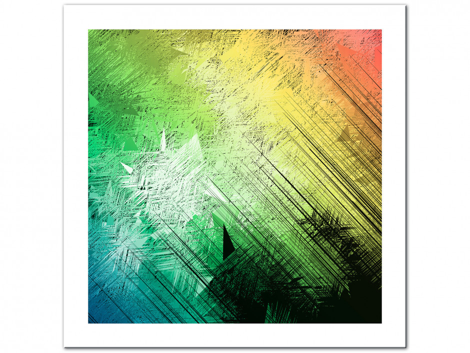 Tableau aluminium déco dégradé de couleurs