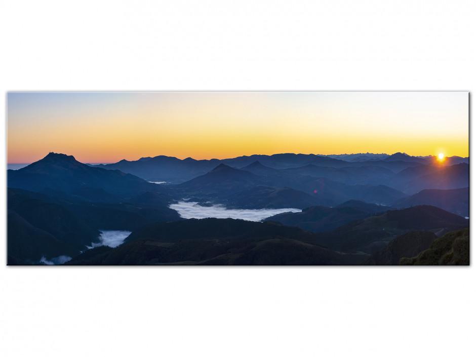 Tableau aluminium Chaine montagnes du Pays Basque