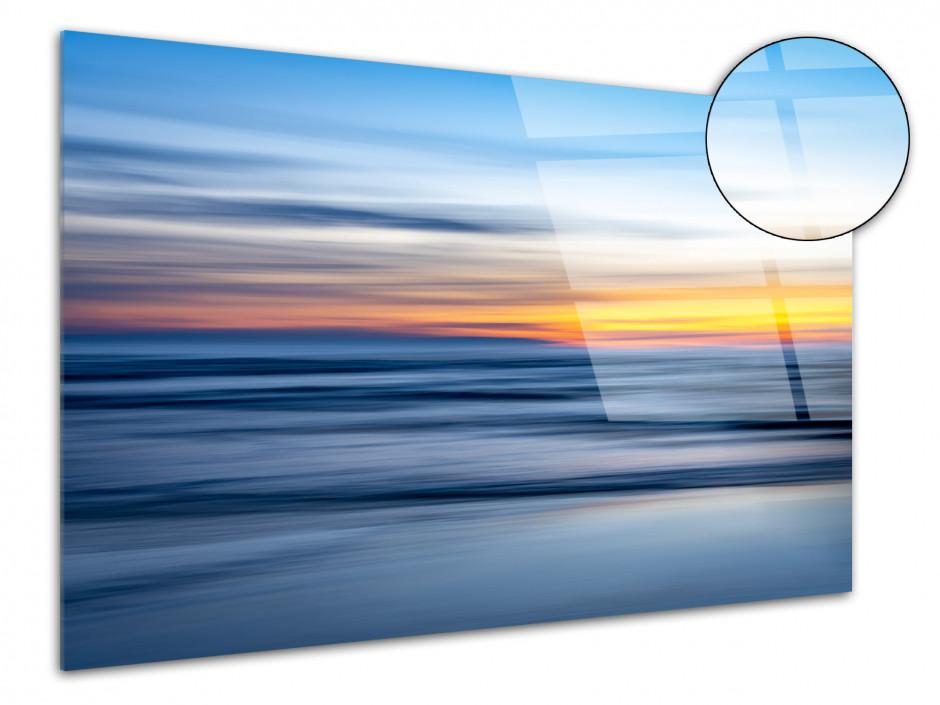 Tableau plexiglas décorative coucher de soleil sur la plage