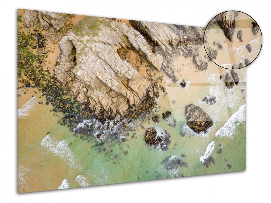 Tableau plexiglas les falaises de Quiberon vu du ciel
