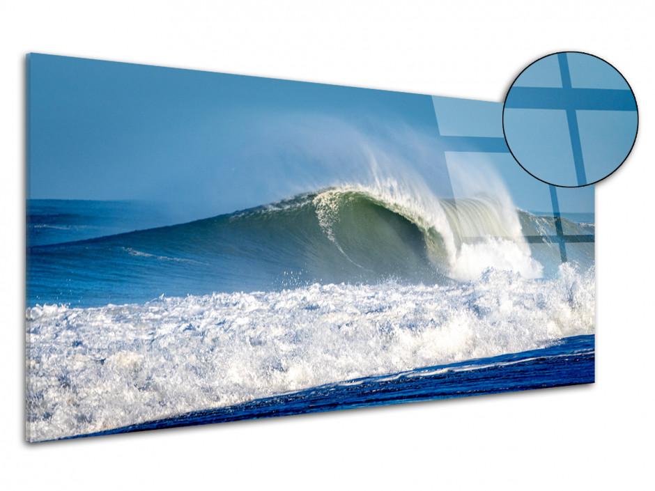 Tableau plexiglas déco Grosses vagues Landaise