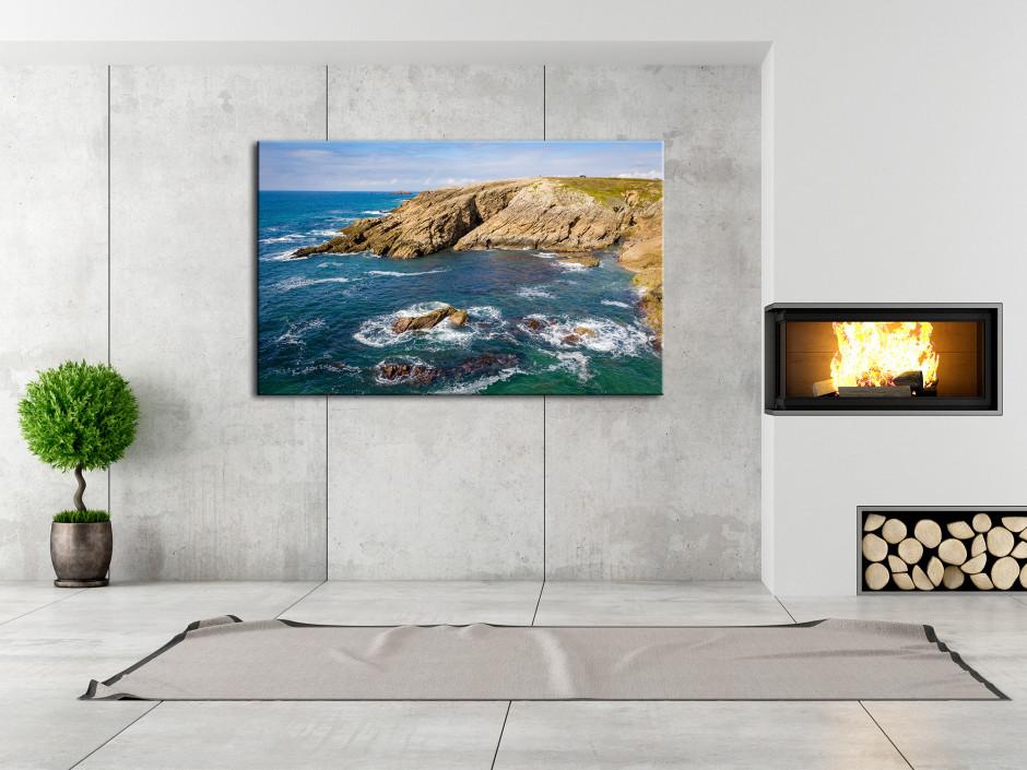Tableau aluminium la côte sauvage Quiberon