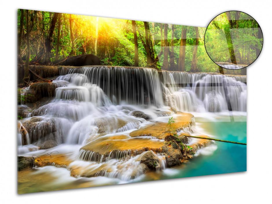 Tableau plexiglas déco paysage cascade en forêt