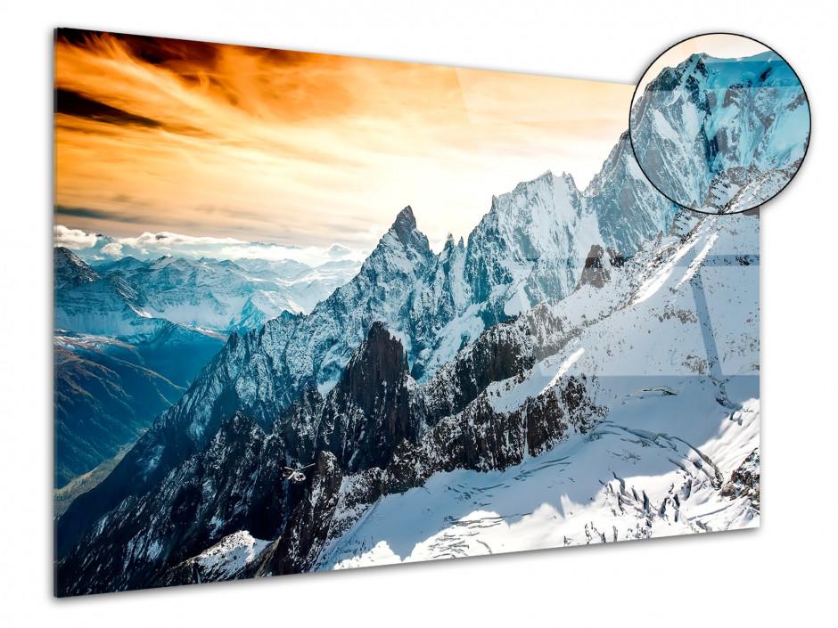 Tableau plexiglas paysage photographie Mont Blanc