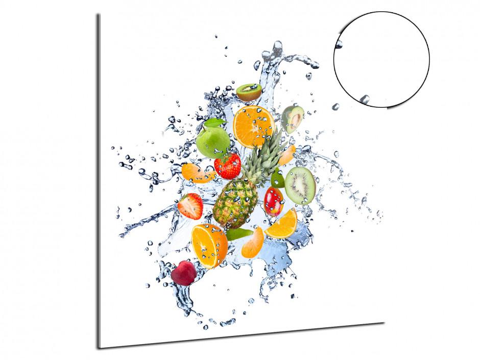 Tableau plexiglas décoration mélange de Fruits