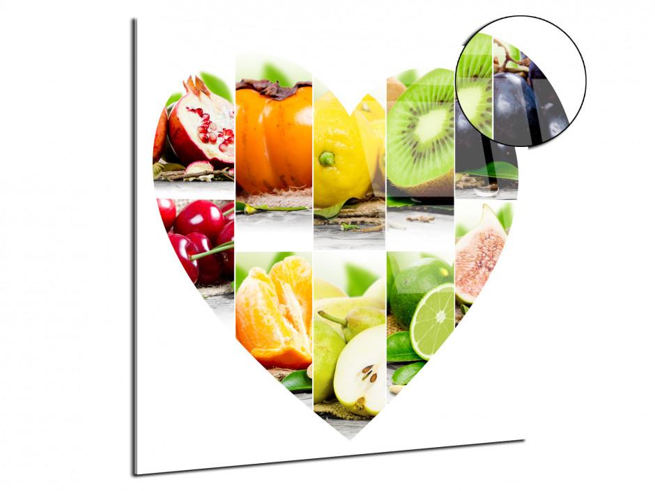 Tableau plexiglas Les fruits en forme de Cœur