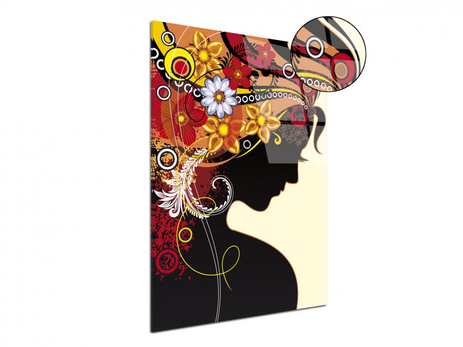 Tableau plexiglas déco moderne Silhouette femme