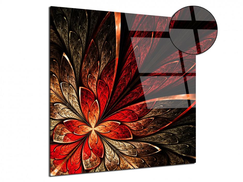 Tableau plexiglas deco Structure de fleurs