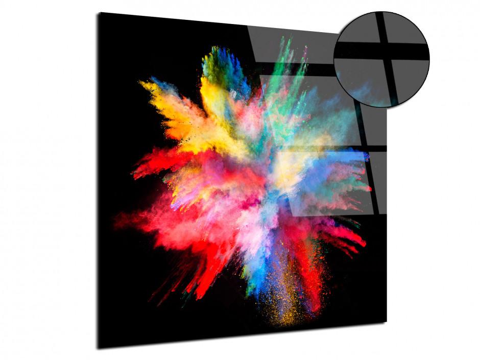 Tableau plexiglas éclat de poudre de peinture