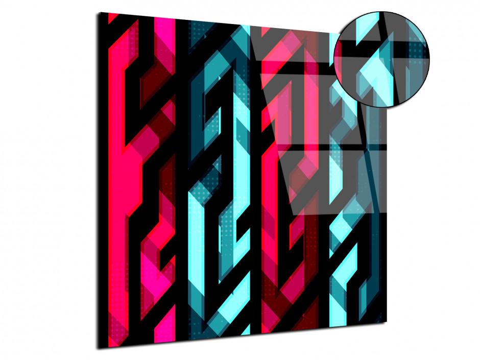 Tableau sur plexiglas dessin graphique