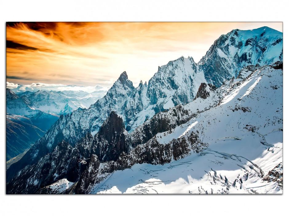 Tableau aluminium paysage photographie Mont Blanc