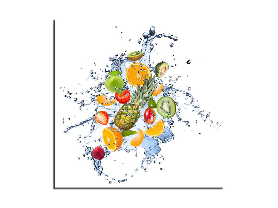 Tableau aluminium décoration mélange de Fruits