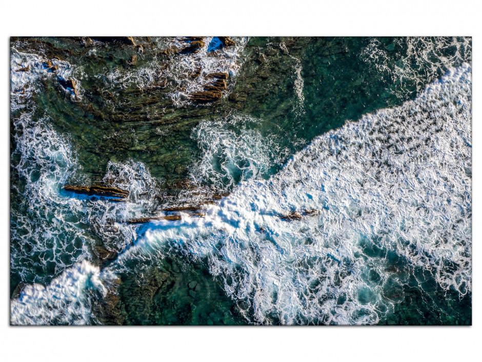 Tableau aluminium photographie aérienne de l'océan