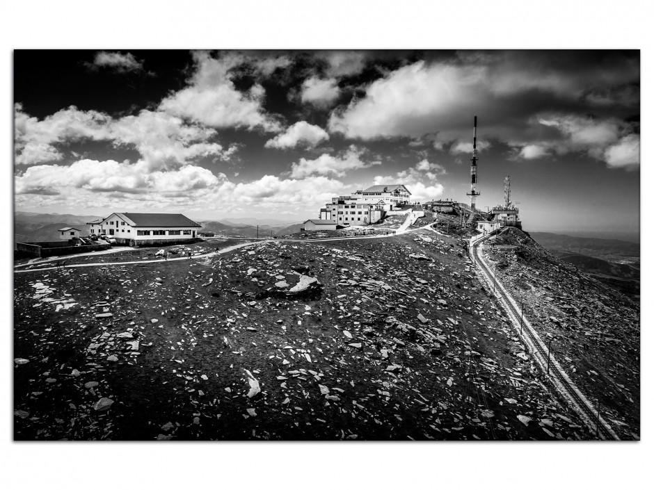 Tableau aluminium photo la Rhune noir et Blanc