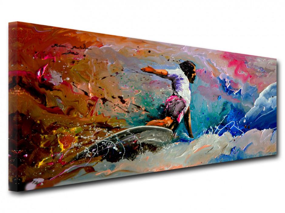 Reproduction tableau deco Remi Bertoche Surfeur