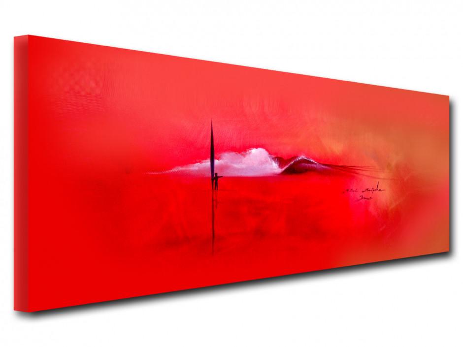 Reproduction tableau peinture sur toile Red Ambiance