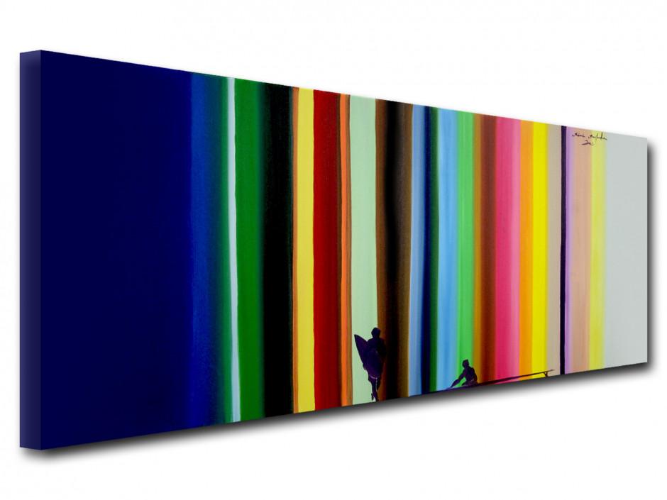 Tableau toile déco reproduction peinture Rémi Bertoche Surf the Line