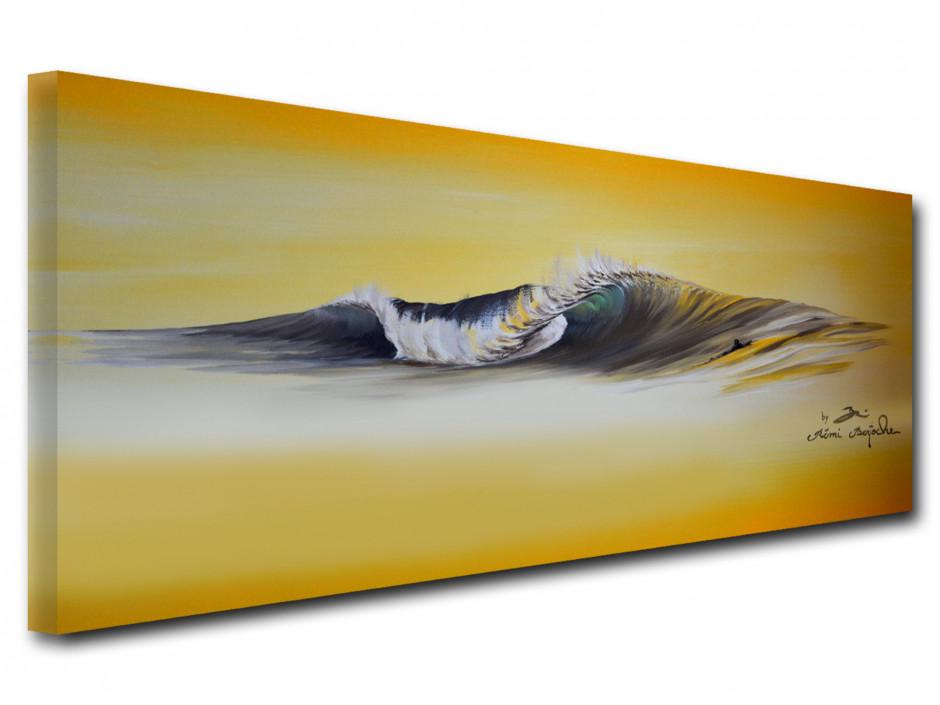 Reproduction tableau Remi Bertoche sur toile imprimée yellow wave