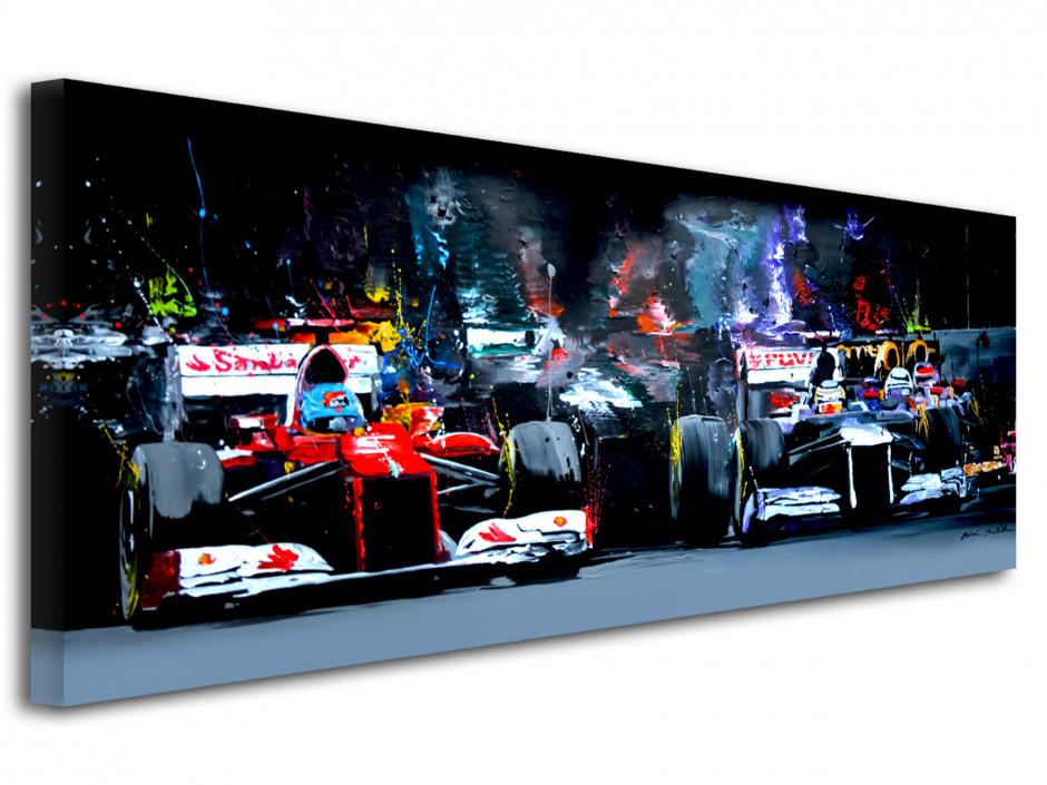 Tableau sur toile imprimée F1 ambiance