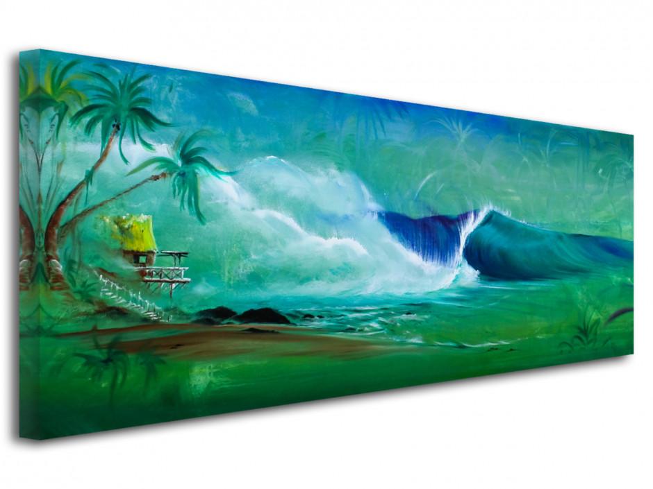 Reproduction tableau peinture sur toile imprimée Super Left