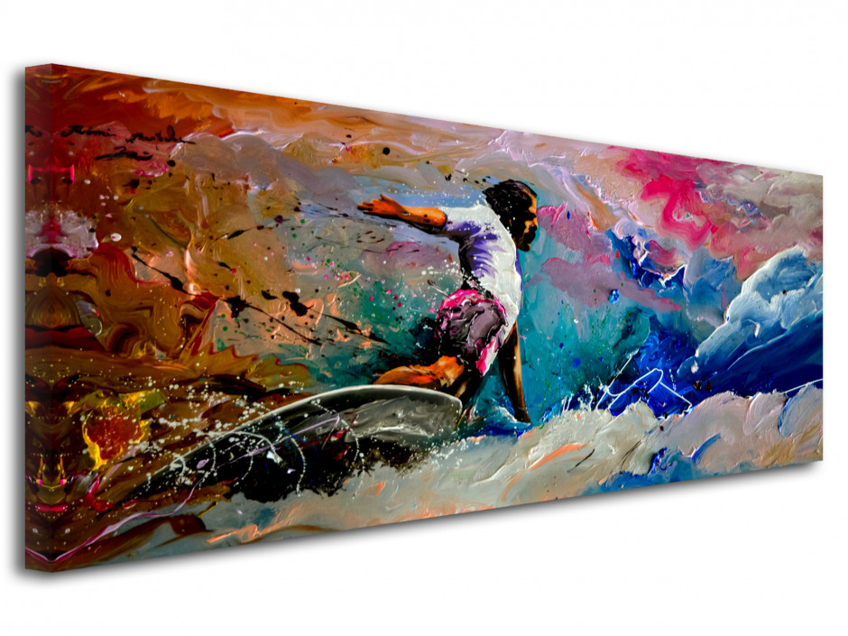 Reproduction peinture sur toile Rémi Bertoche Surf Style