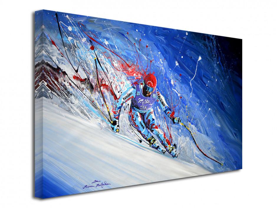Reproduction peinture sur toile imprimée Skieur