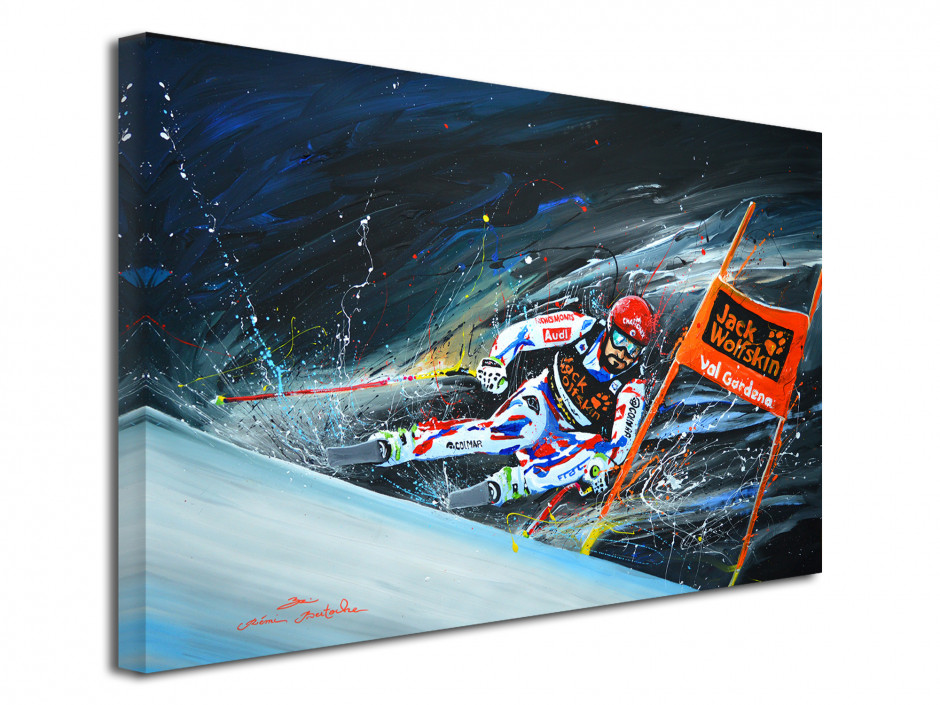 Tableau déco peinture reproduit sur toile Skieur Pro