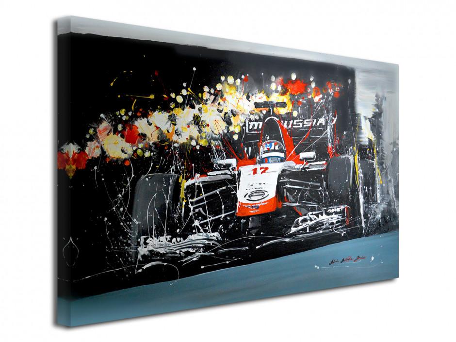 Tableau Formule 1 par Rémi Bertoche reproduit sur toile imprimée