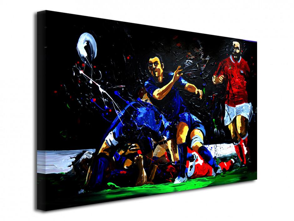 Tableau reproduit sur toile Rugby Ejecteur Peinture Rémi Bertoche