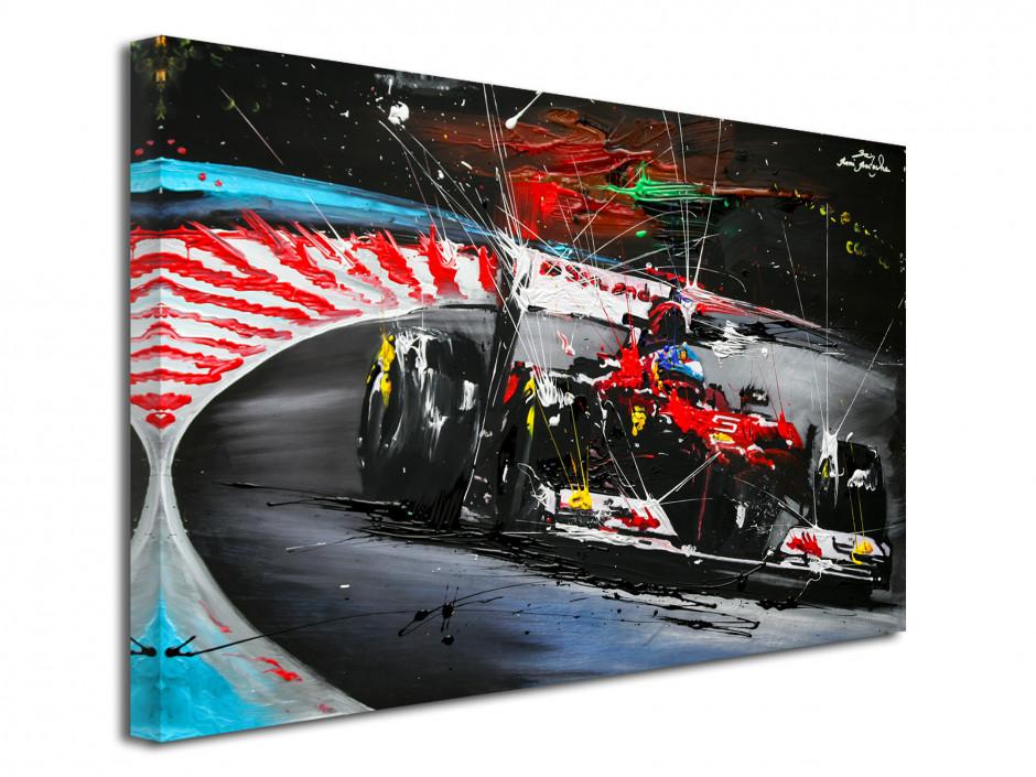 Reproduction peinture Rémi Bertoche Course F1