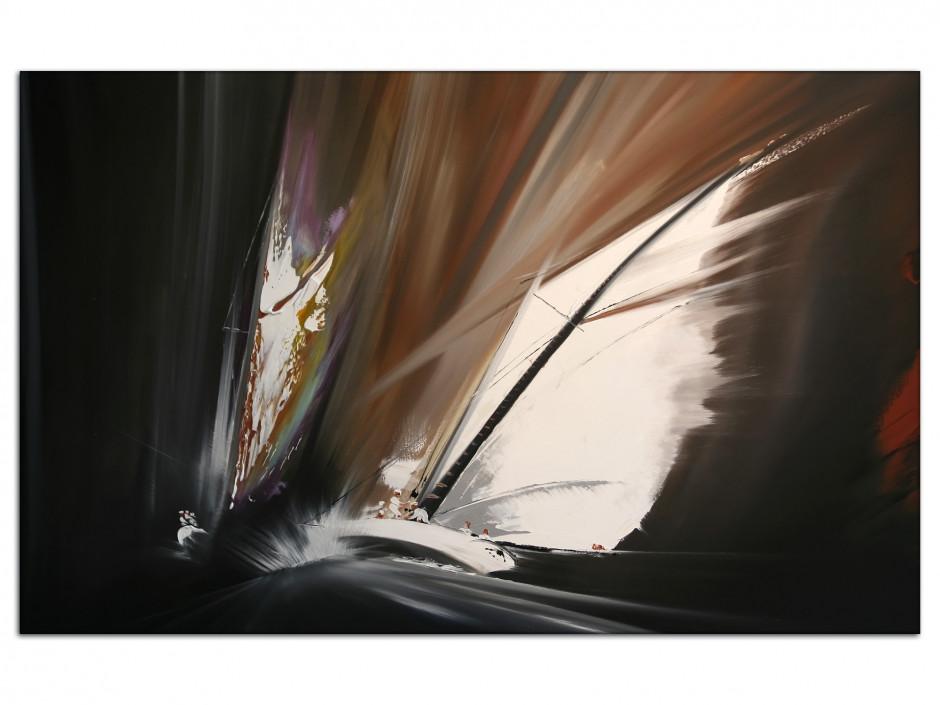 Tableau décoration murale peinture Rémi Bertoche Abstract voile