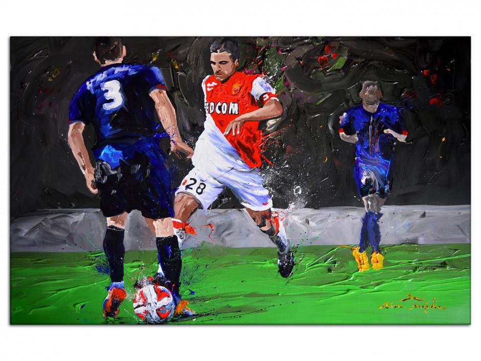 Tableau reproduction peinture AS Monaco
