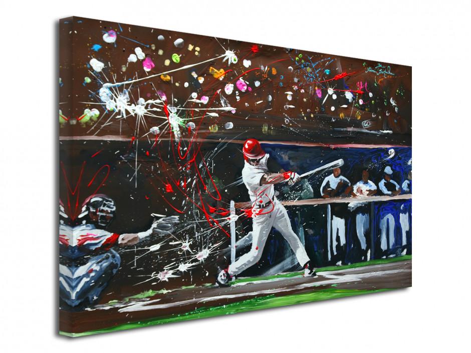 Tableau toile décorative reproduction peinture Baseball