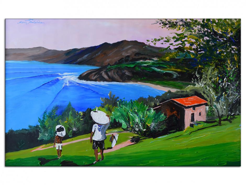 Tableau déco Bask Country Reproduction toile Rémi Bertoche