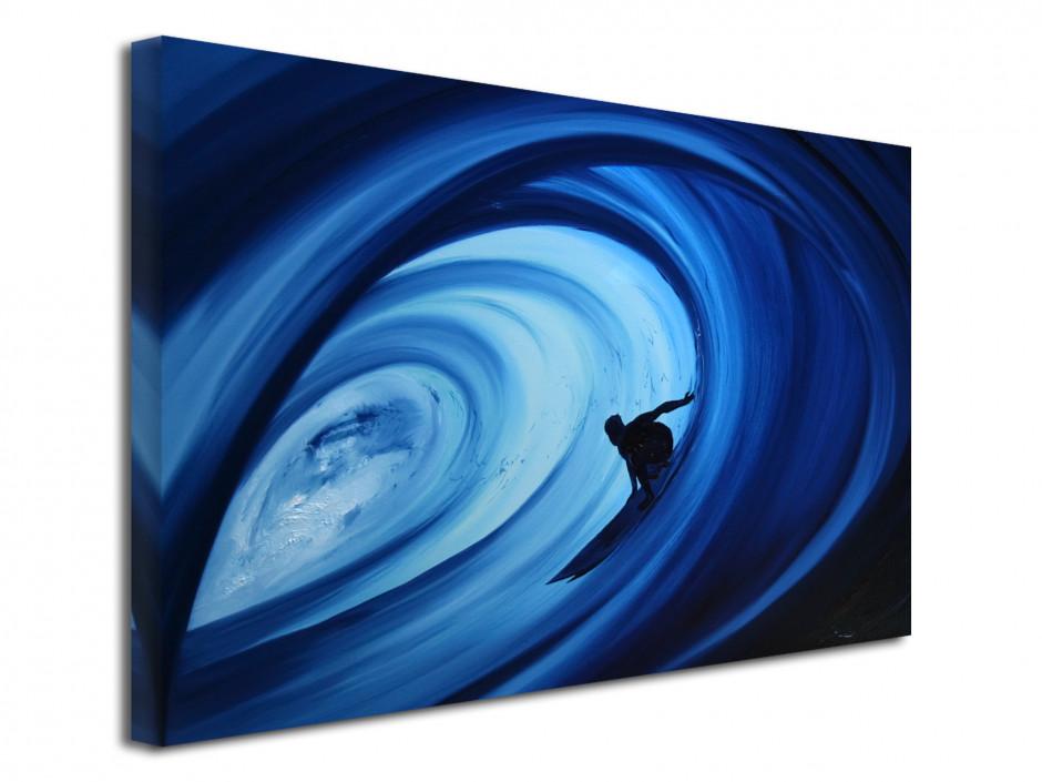 Tableau Blue Barrel line Reproduction peinture Rémi Bertoche