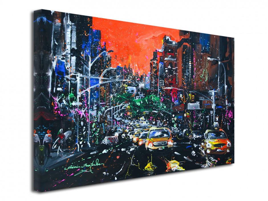 Tableau City Fire reproduction peinture sur toile