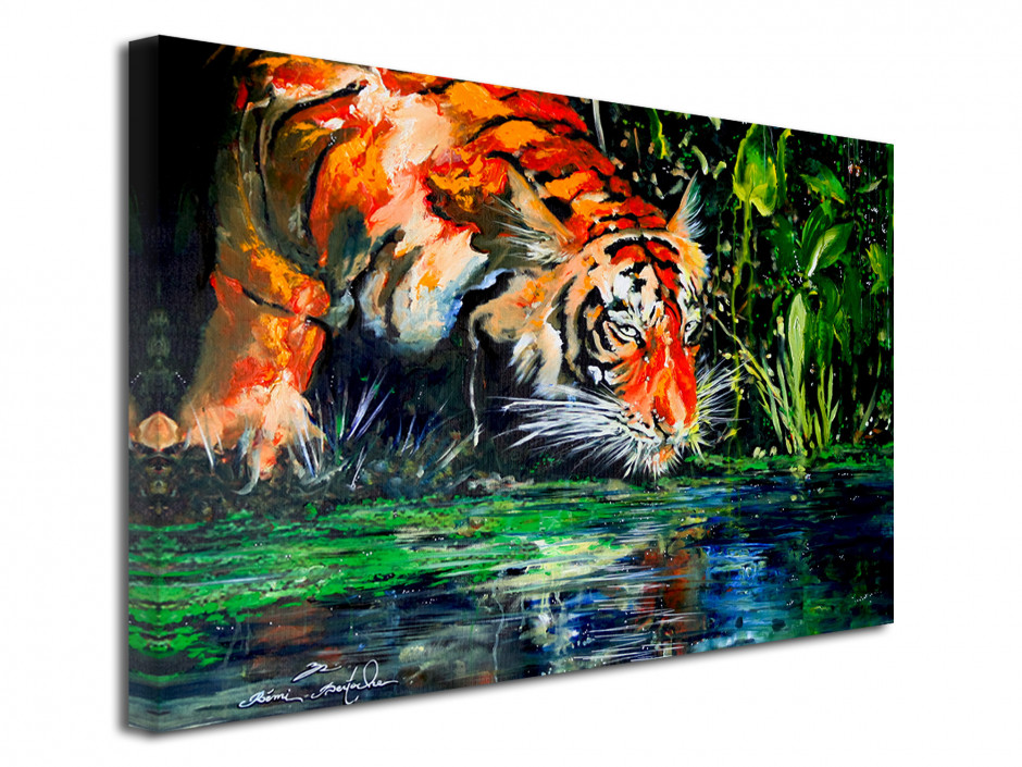 Tableau reproduction sur toile eye of the tiger par Rémi Bertoche