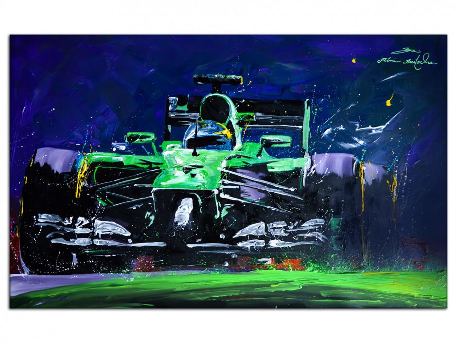 Reproduction tableau peinture Rémi Bertoche F1 Green