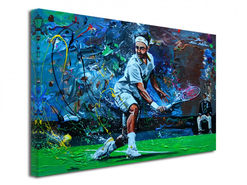 Tableau toile déco murale reproduction peinture Tennisman