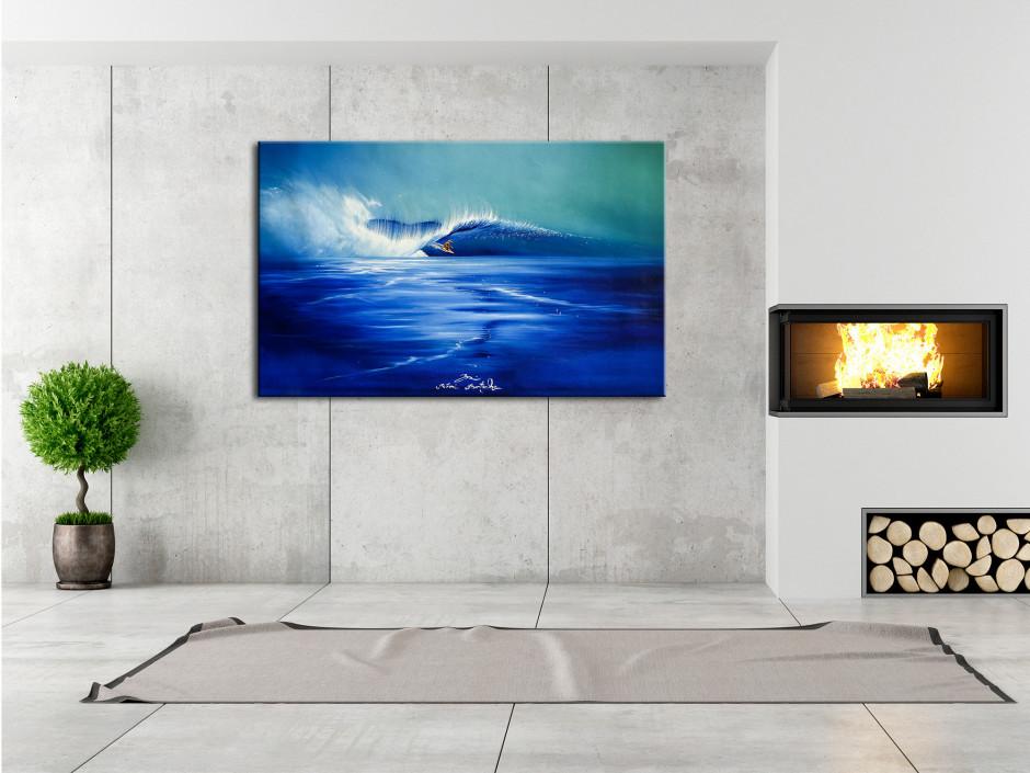 Reproduction tableau Rémi Bertoche Funny Waves