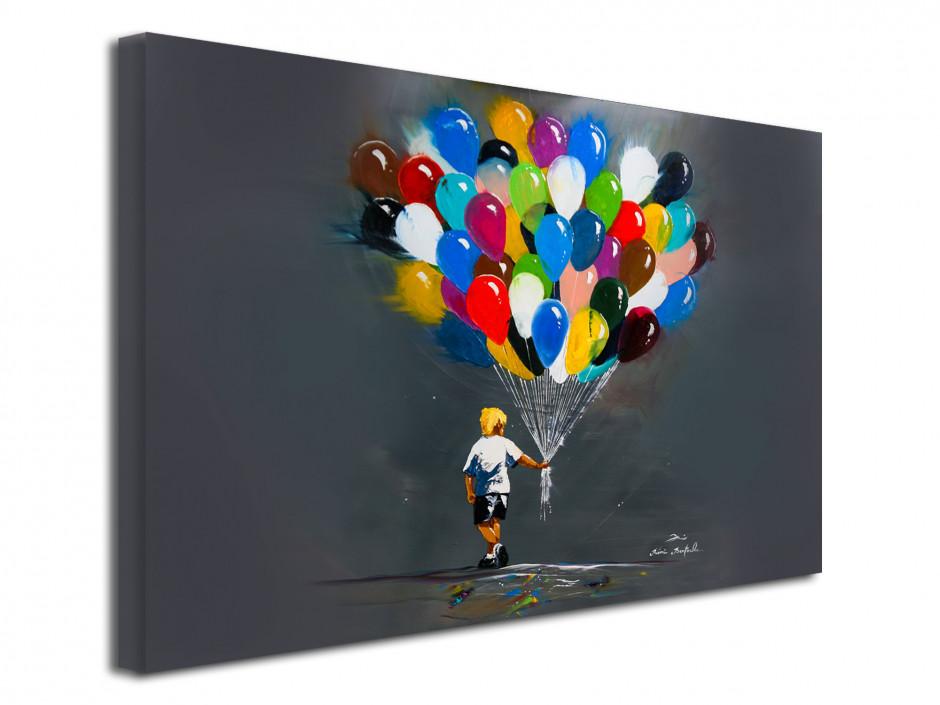 Tableau Rémi Bertoche reproduction sur toile Les Ballons du p'tit