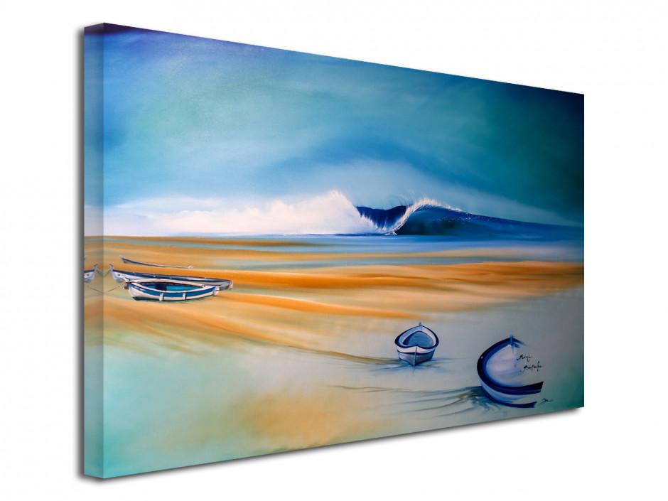 Tableau peinture reproduit sur toile Les Barques